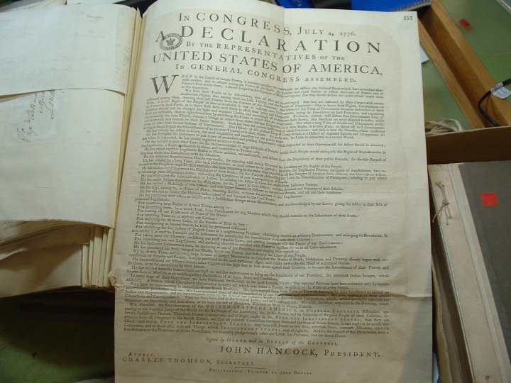 For Independence Day: Britain's Intercepted Copy of the Declaration of Independence