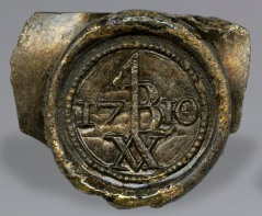 Wine bottle seal of Lewis Burwell.